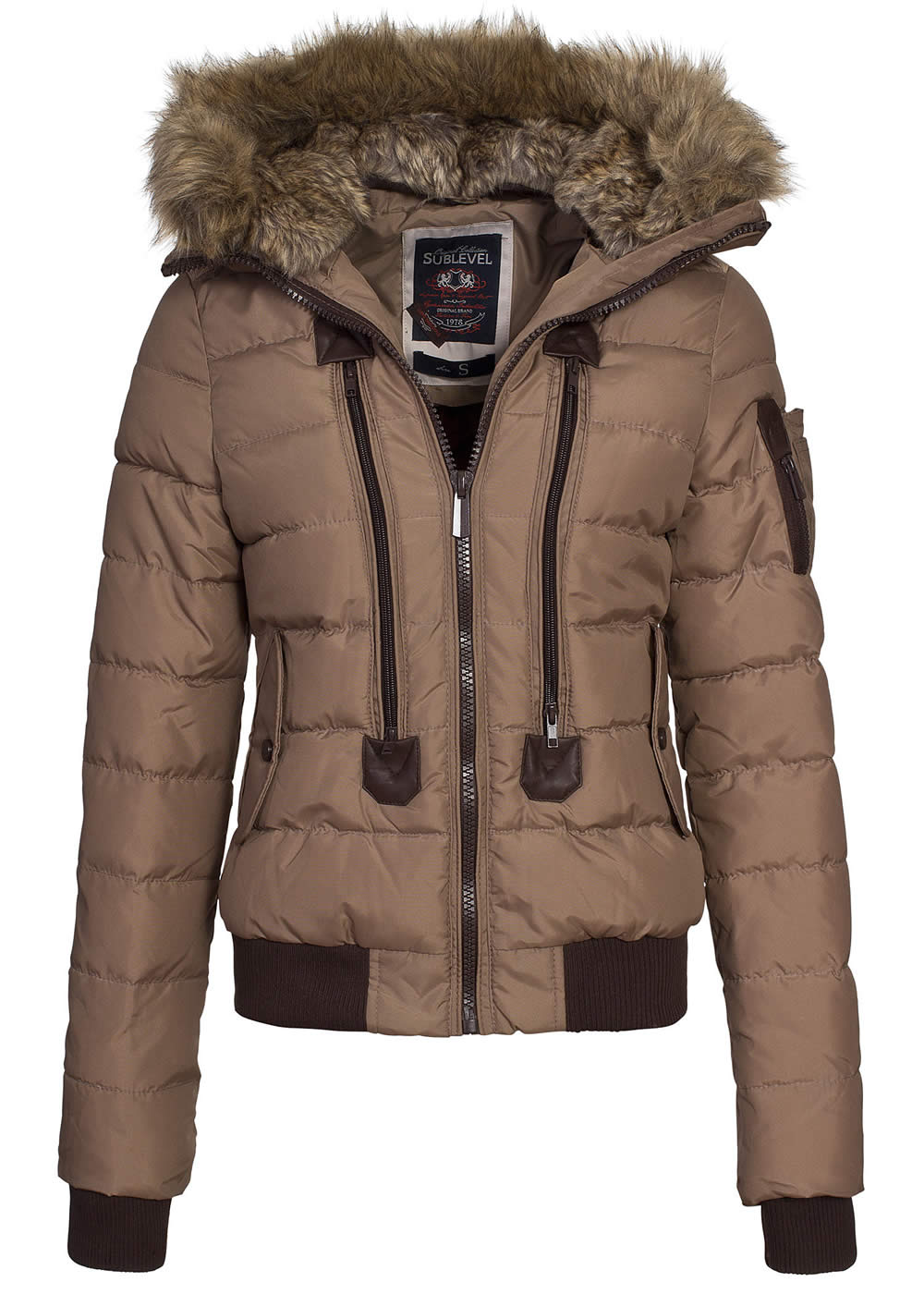 Winter damen jacke mit fell