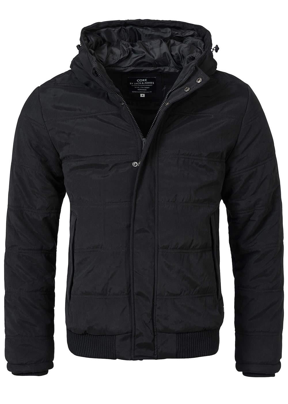 jack and jones winterjacke row bomber jacket reg 12079499 schwarz ebay. Black Bedroom Furniture Sets. Home Design Ideas