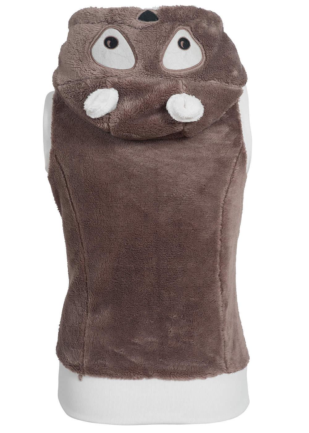 eight2nine damen teddy fleece weste panda kapuze mit ohren 2 taschen by sublevel ebay. Black Bedroom Furniture Sets. Home Design Ideas