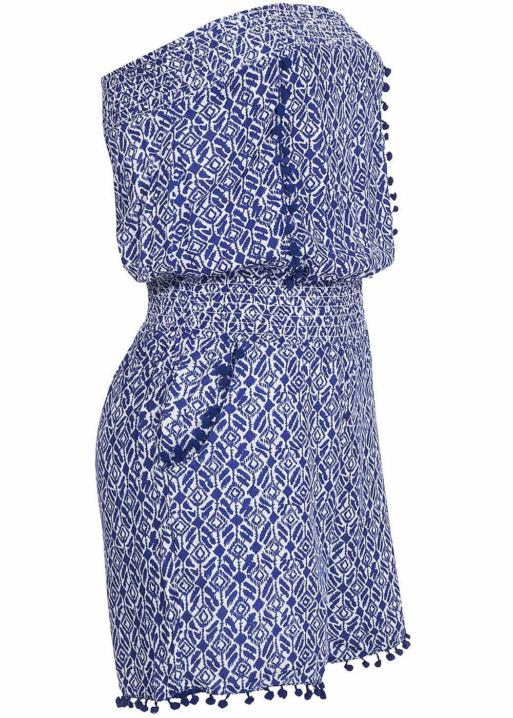 tally weijl damen jumpsuit scbvicoca hhz2 ethno muster 2 taschen blau weiss ebay. Black Bedroom Furniture Sets. Home Design Ideas
