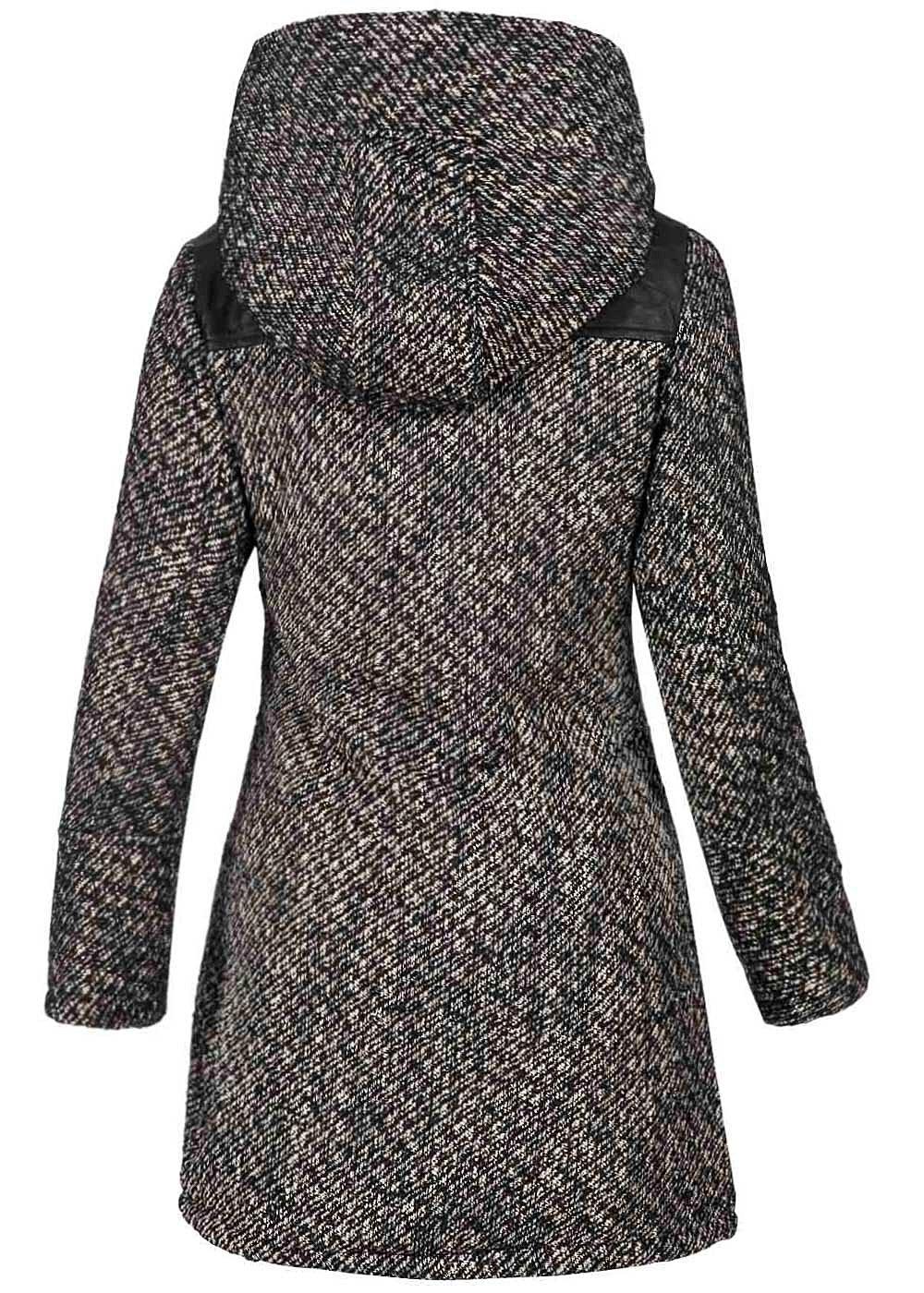 eight2nine damen winter mantel gro e kapuze fleecefutter. Black Bedroom Furniture Sets. Home Design Ideas