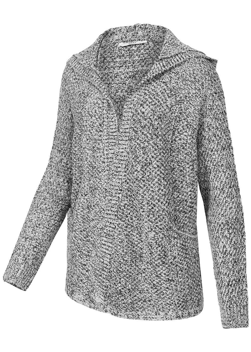 only damen strick cardigan 15105397 awesome mit kapuze 2 taschen grau. Black Bedroom Furniture Sets. Home Design Ideas