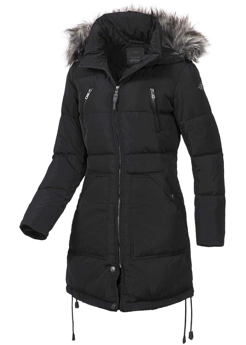 Only Damen Winter Mantel Lana 15102375 2 Taschen Abn Kapuze