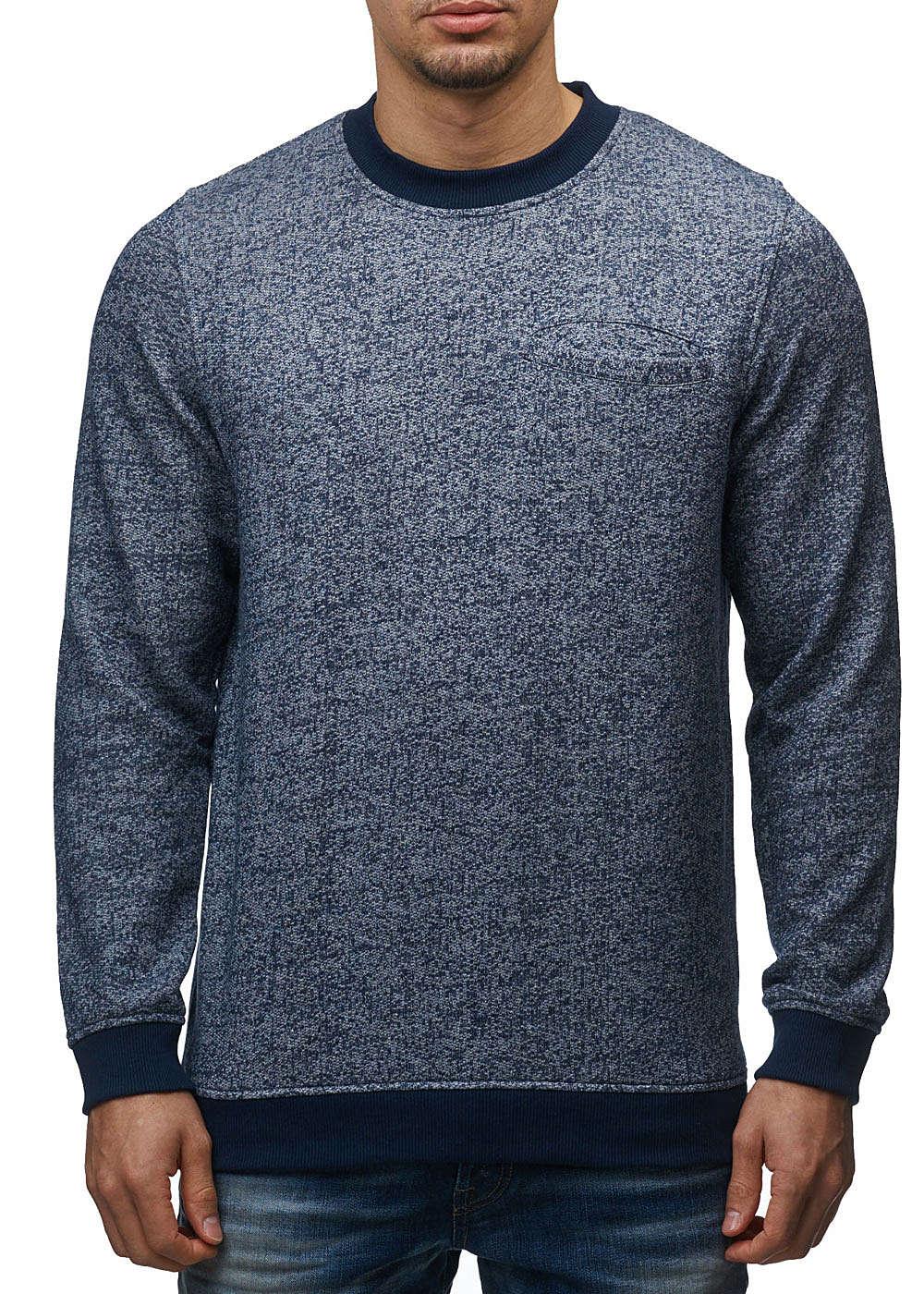 jack and jones herren sweater crew neck brusttasche. Black Bedroom Furniture Sets. Home Design Ideas