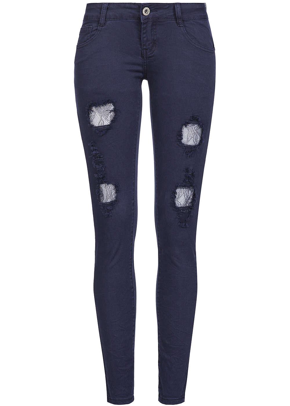 hailys damen jeans 5 pocket style destroy look spitze mit. Black Bedroom Furniture Sets. Home Design Ideas