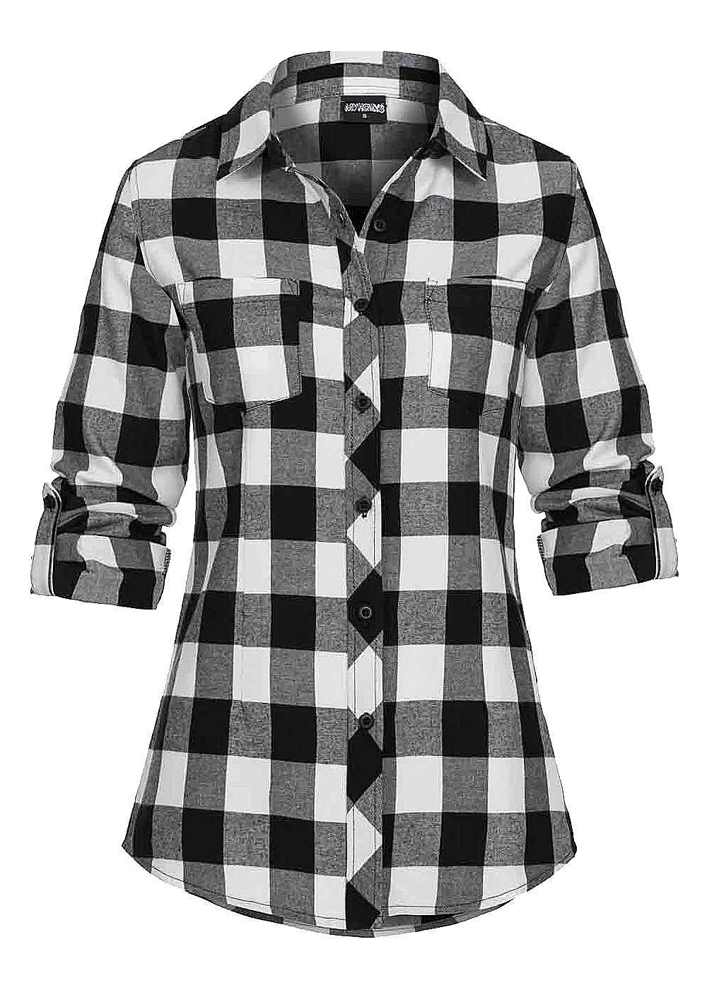 hailys damen turn up bluse knopfleiste 2 brusttaschen. Black Bedroom Furniture Sets. Home Design Ideas