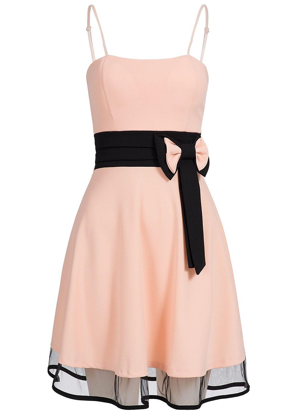 Styleboom Fashion Damen Mini Spaghettiträger Kleid Schleife ...