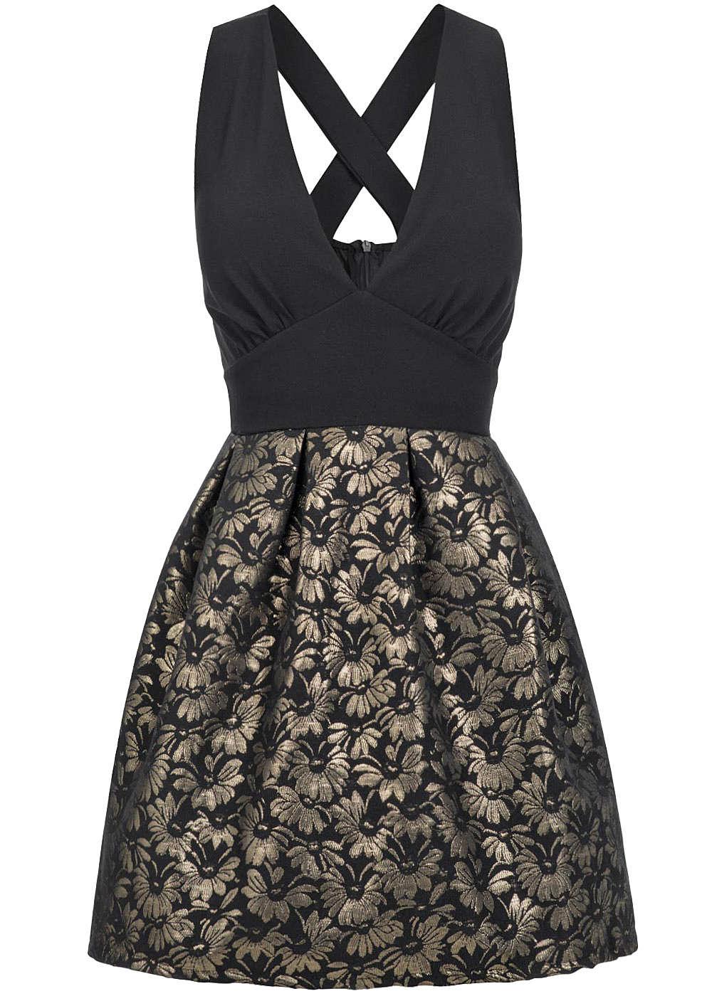 styleboom fashion damen mini kleid weit ausgestellt tiefer. Black Bedroom Furniture Sets. Home Design Ideas