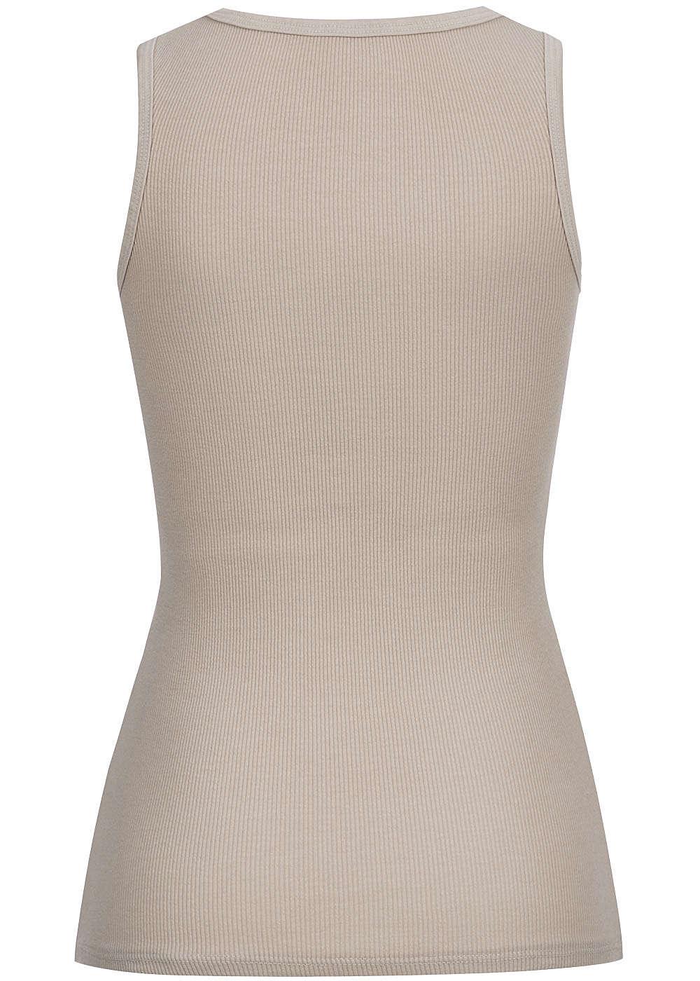 Styleboom fashion damen tank top gerippt deko knopfleiste for Top deko shop