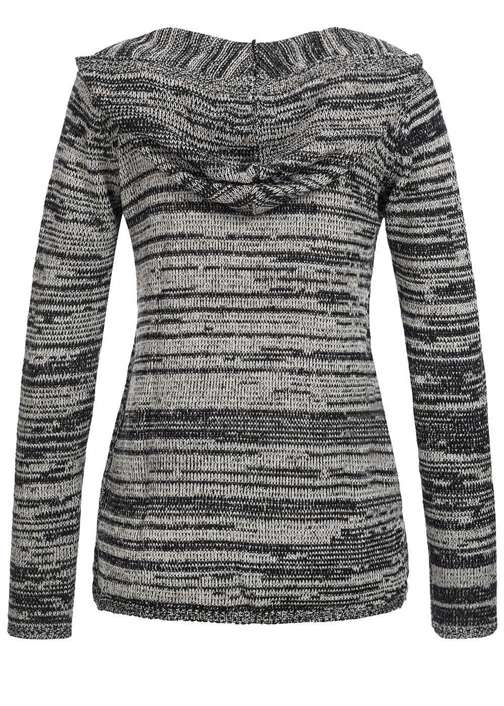 tally weijl damen strick cardigan mit kapuze offener schnitt schwarz. Black Bedroom Furniture Sets. Home Design Ideas