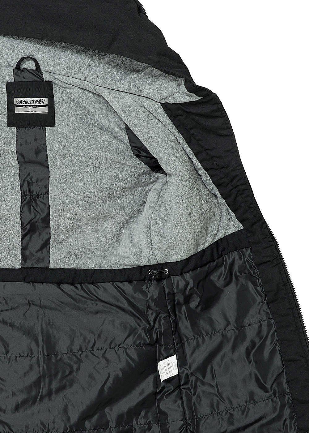 c01207b46abd Damen winterjacke fleecefutter kapuze 2 taschen schwarz – Stilvolle ...