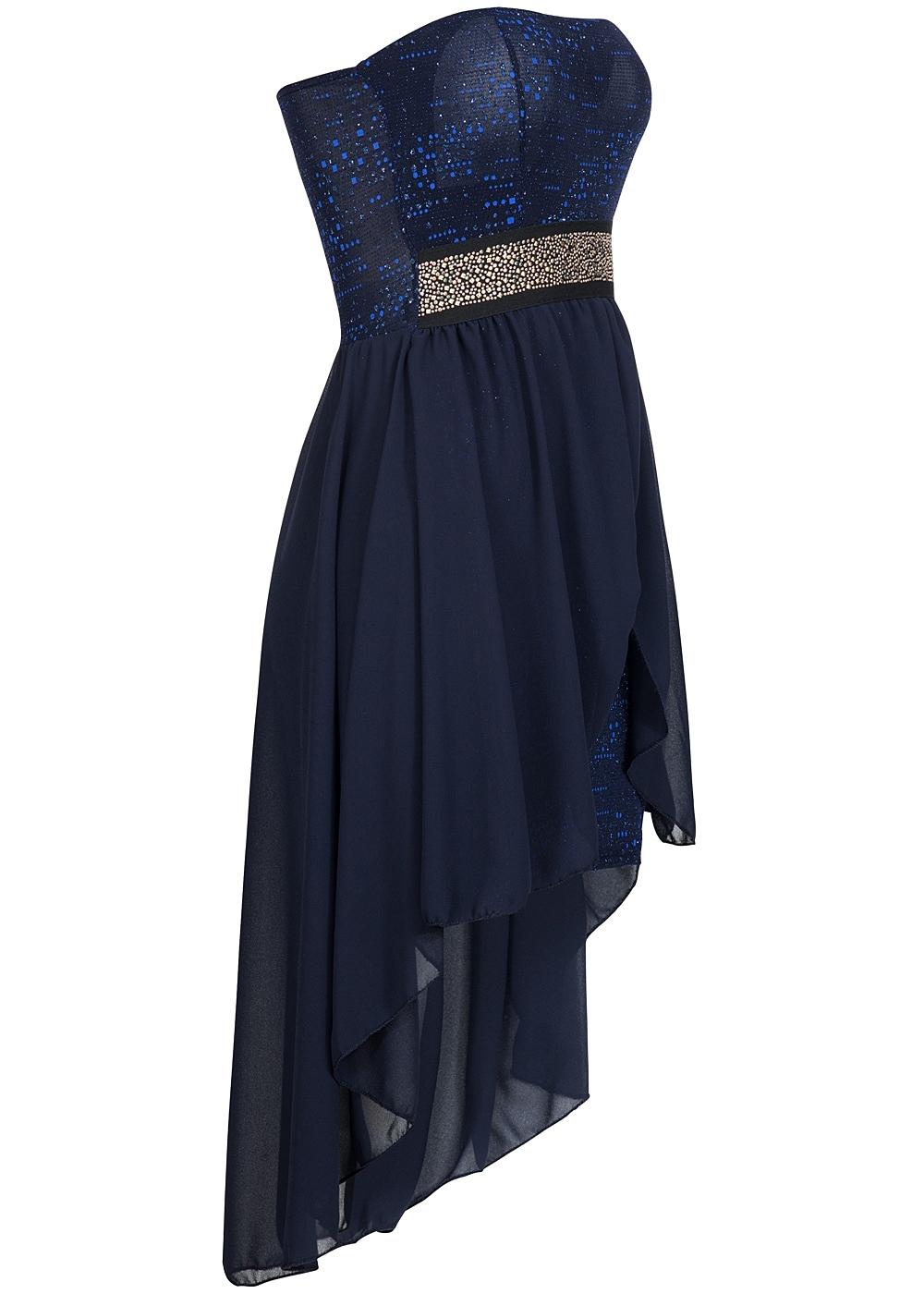 styleboom fashion damen partykleid bandeau vokuhila glitzer royal blau 77onlineshop. Black Bedroom Furniture Sets. Home Design Ideas