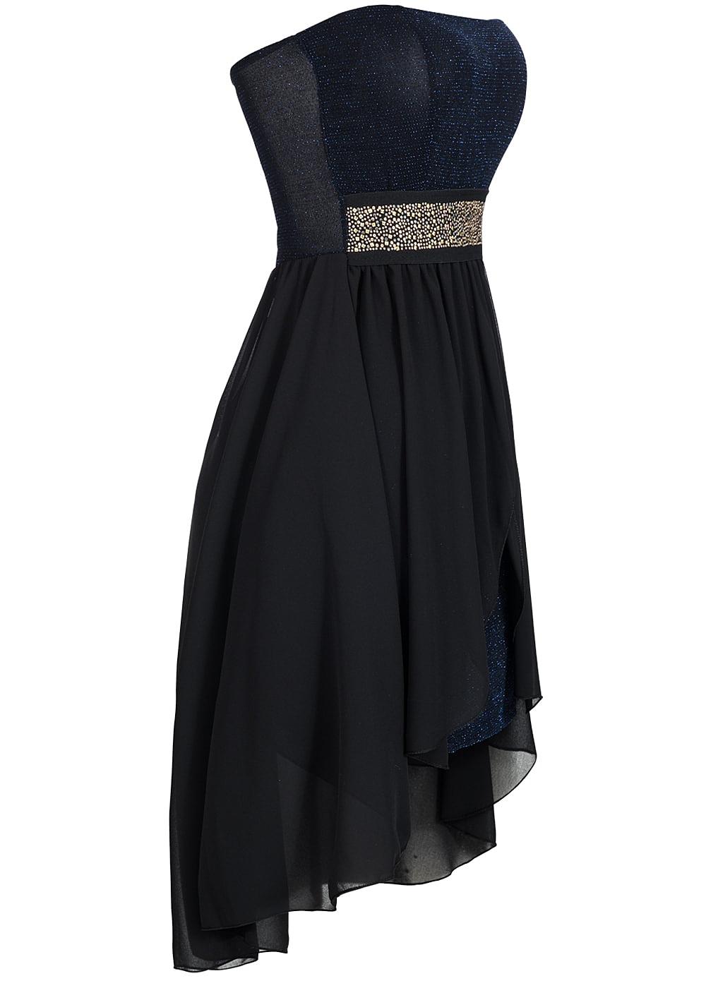 118827e3d01e53 Styleboom Fashion Damen Party Bandeau Kleid Vokuhila Glitzer ...