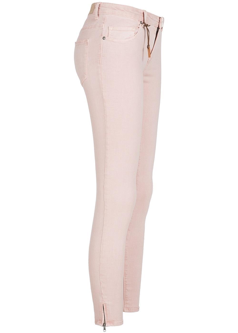 07c8e5dbdc14 ONLY Damen Skinny Jeans Hose 5-Pockets Knöchellang Zipper NOOS peach ...