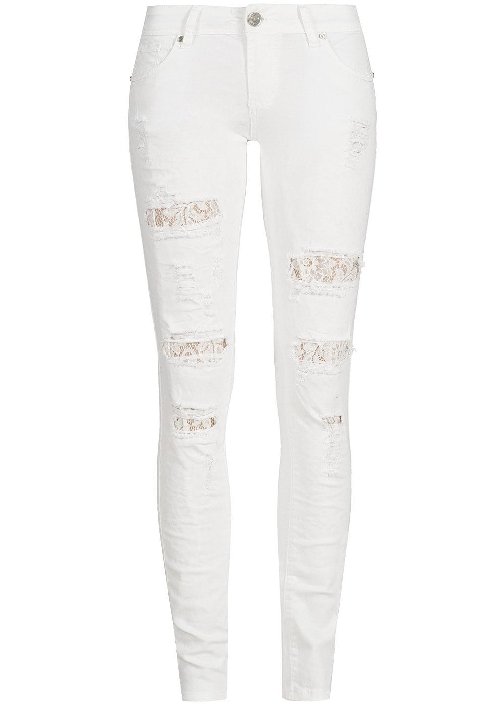 seventyseven lifestyle hose damen jeans 5 pockets destroy. Black Bedroom Furniture Sets. Home Design Ideas