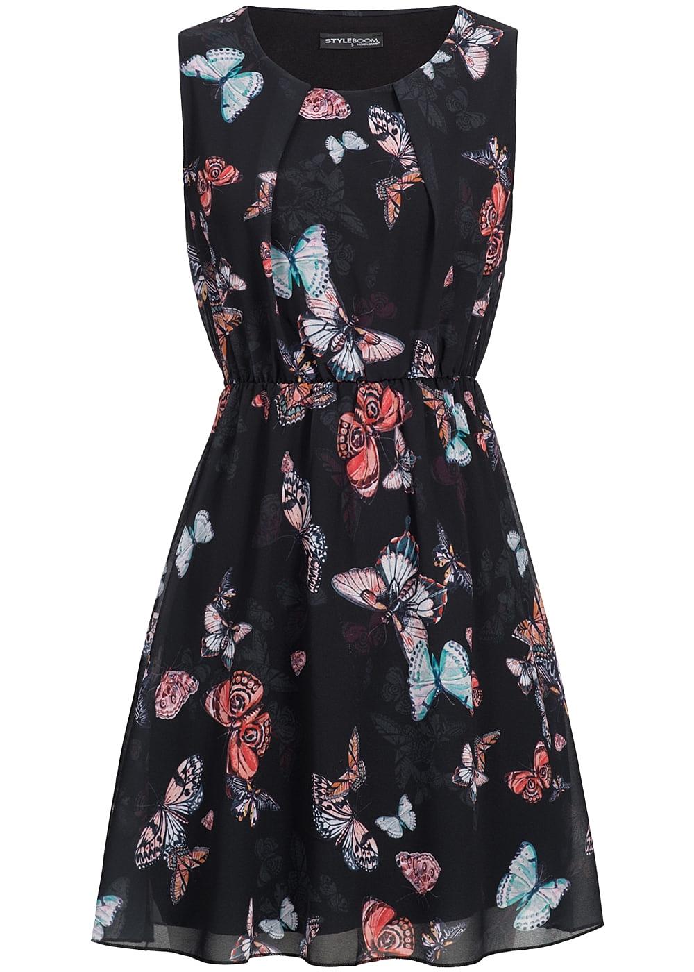 77 Online Shop De : styleboom fashion damen mini kleid gummizug schmetterling muster schwarz 77onlineshop ~ Markanthonyermac.com Haus und Dekorationen