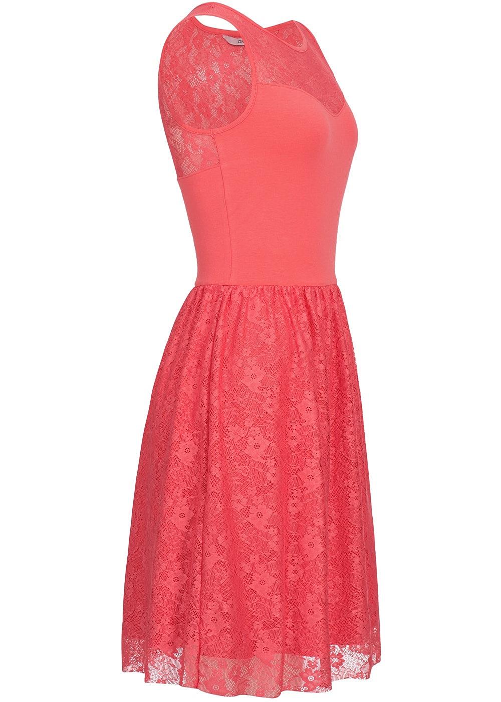 77 Online Shop De : only damen midi kleid 2 lagig spitze rose of sharon coral 77onlineshop ~ Markanthonyermac.com Haus und Dekorationen