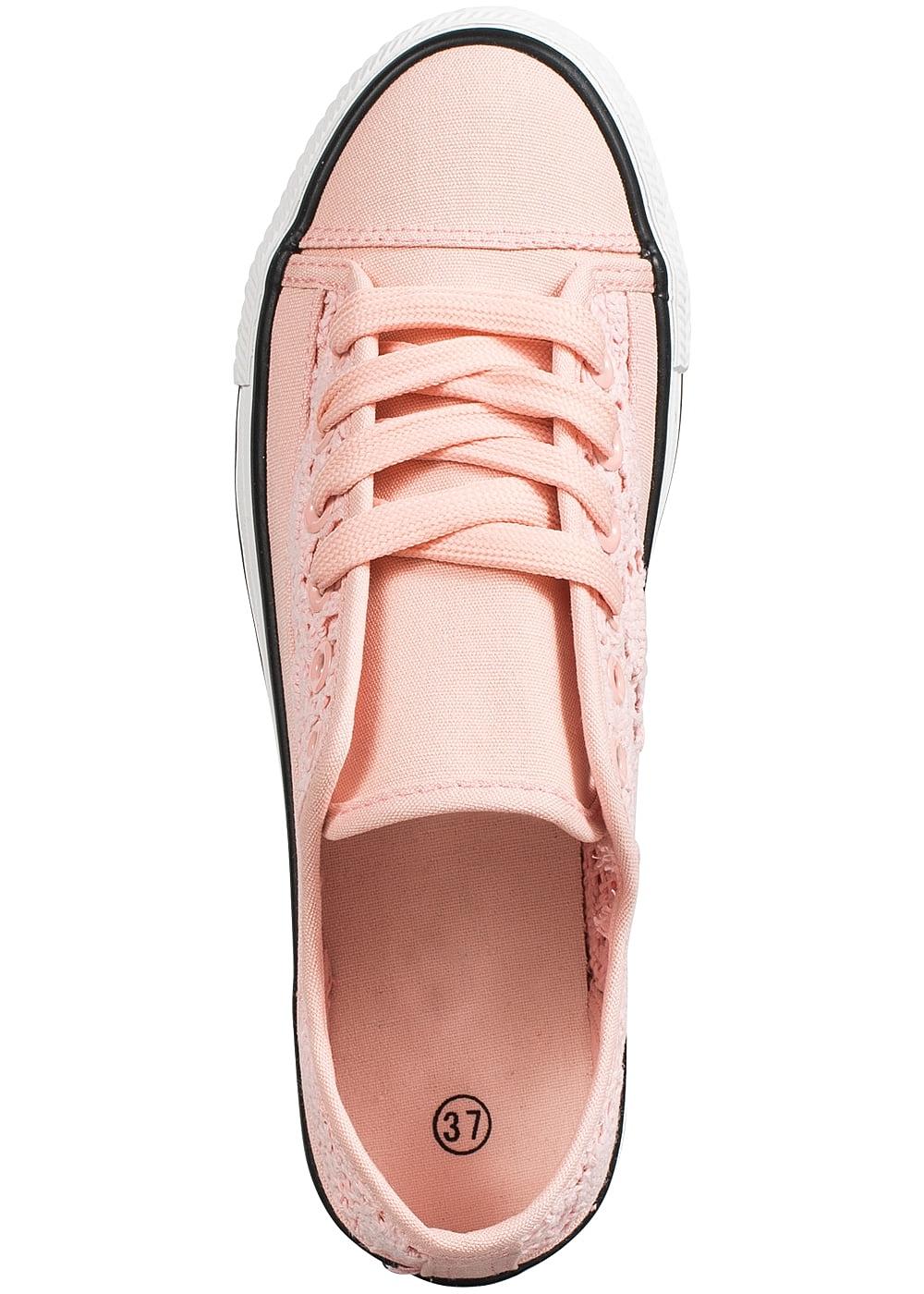 seventyseven lifestyle schuh damen sneaker zum binden h keleinsatz rosa 77onlineshop. Black Bedroom Furniture Sets. Home Design Ideas