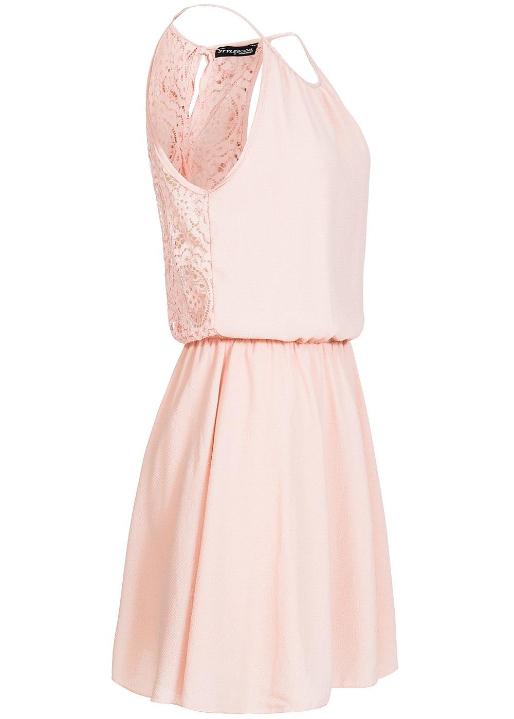 Styleboom Fashion Damen Midi Kleid Spitze hinten Taille Gummizug ...