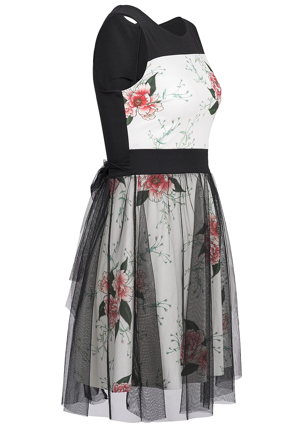 styleboom fashion damen kleid weiss schwarz 77onlineshop. Black Bedroom Furniture Sets. Home Design Ideas