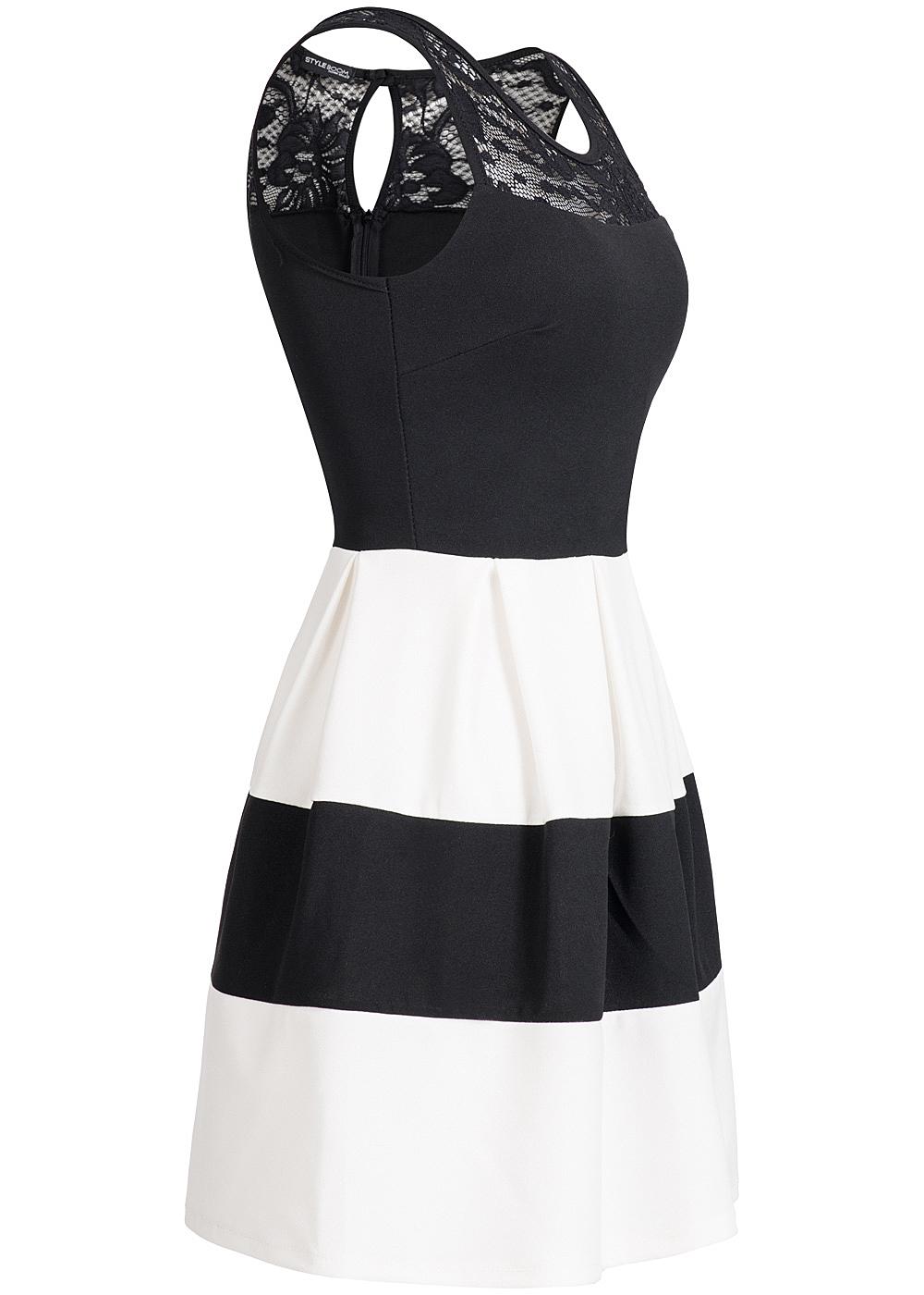 Schwarz Weiß Gestreiftes Kleid. knielange kleider schwarz wei ...