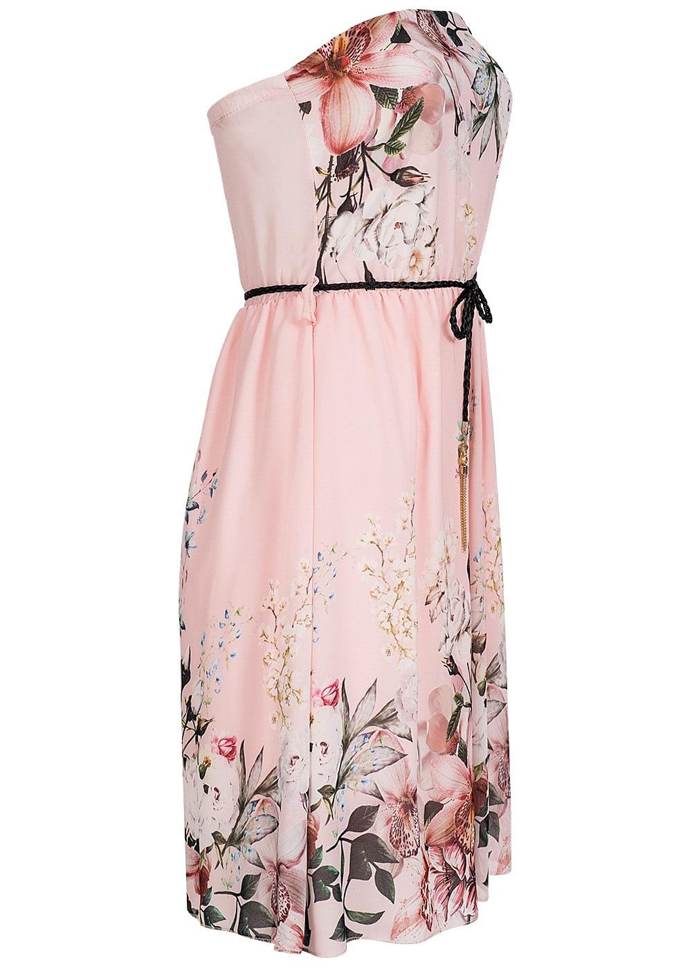 Styleboom Fashion Damen Mini Bandeau Kleid Blumen Muster ...