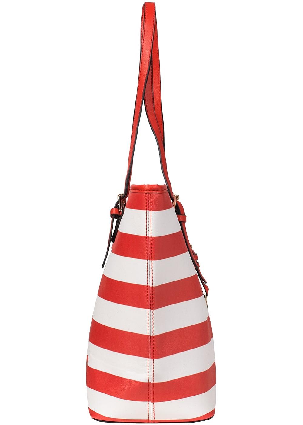 6adeff84e74b9 Styleboom Fashion Damen Handtasche rot weiss - 77onlineshop