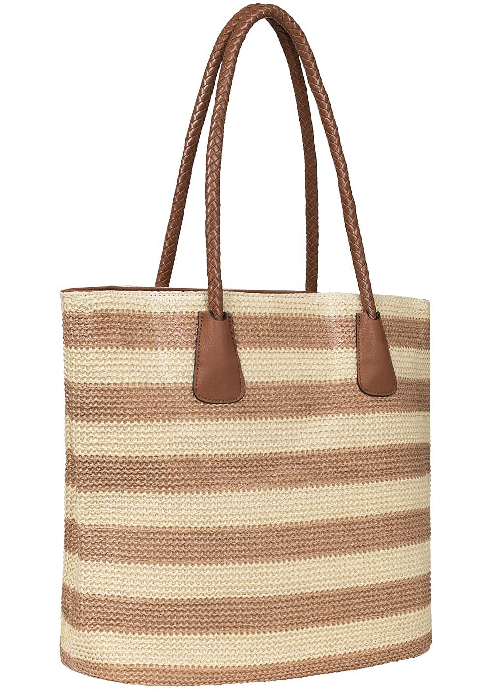 65df91f6d899c4 Styleboom Fashion Damen Handtasche braun beige - 77onlineshop
