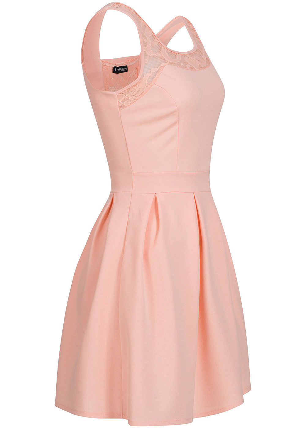 styleboom fashion damen mini kleid spitze rosa 77onlineshop. Black Bedroom Furniture Sets. Home Design Ideas