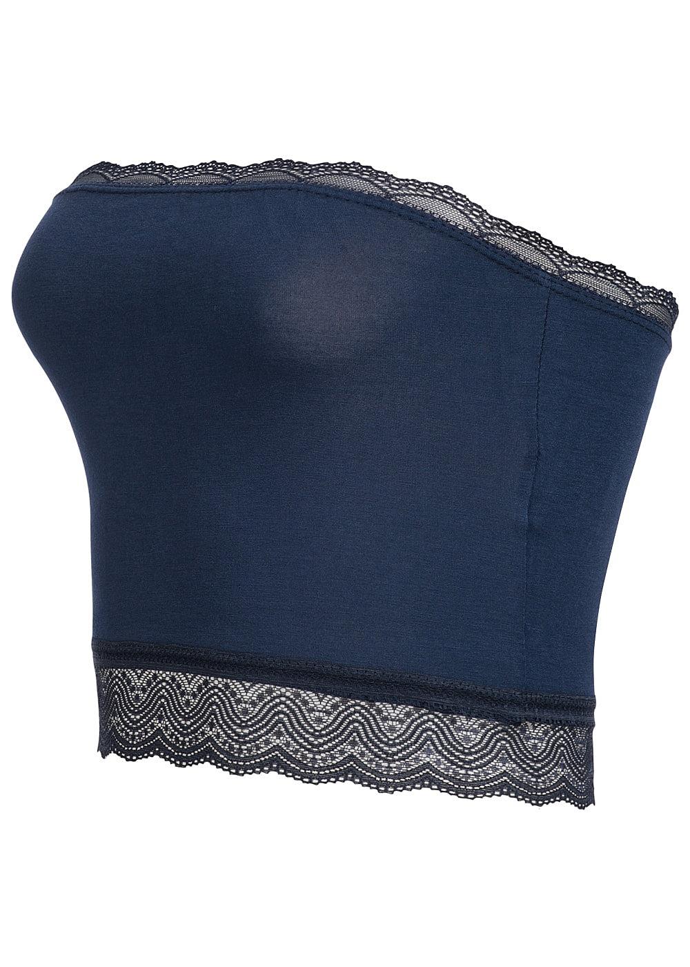 styleboom fashion damen bandeau top spitze navy blau. Black Bedroom Furniture Sets. Home Design Ideas