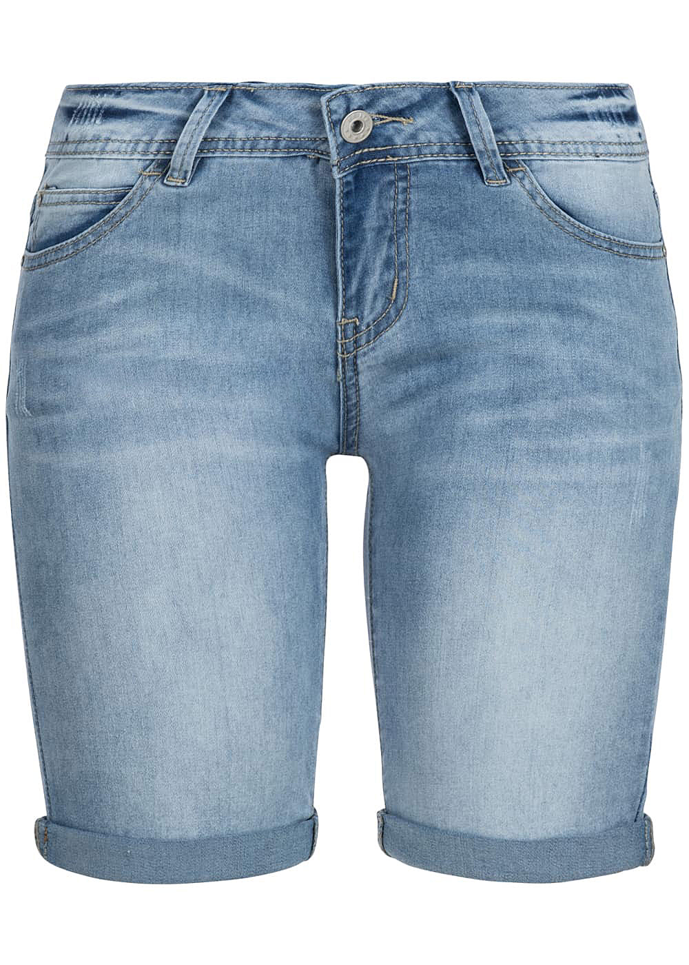 hailys damen bermuda jeans short 5 pockets hell blau. Black Bedroom Furniture Sets. Home Design Ideas