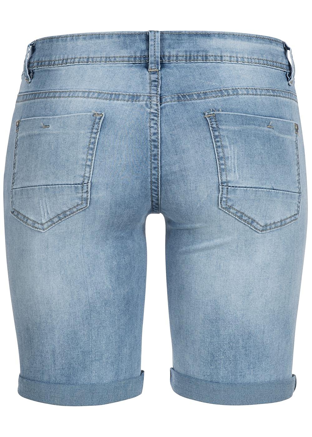 hailys damen bermuda jeans short 5 pockets hell blau 77onlineshop. Black Bedroom Furniture Sets. Home Design Ideas