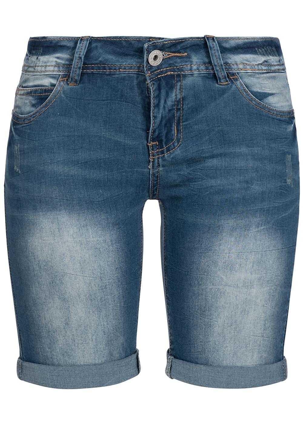 hailys damen bermuda jeans short 5 pockets blau 77onlineshop. Black Bedroom Furniture Sets. Home Design Ideas