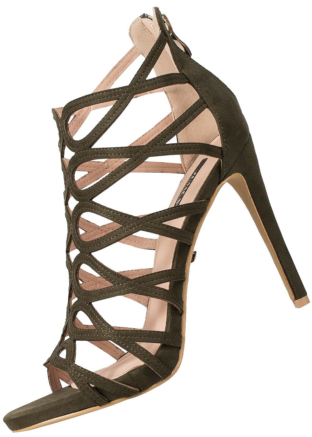 Seventyseven Lifestyle Schuh Damen Pumps Absatz 11cm Velours