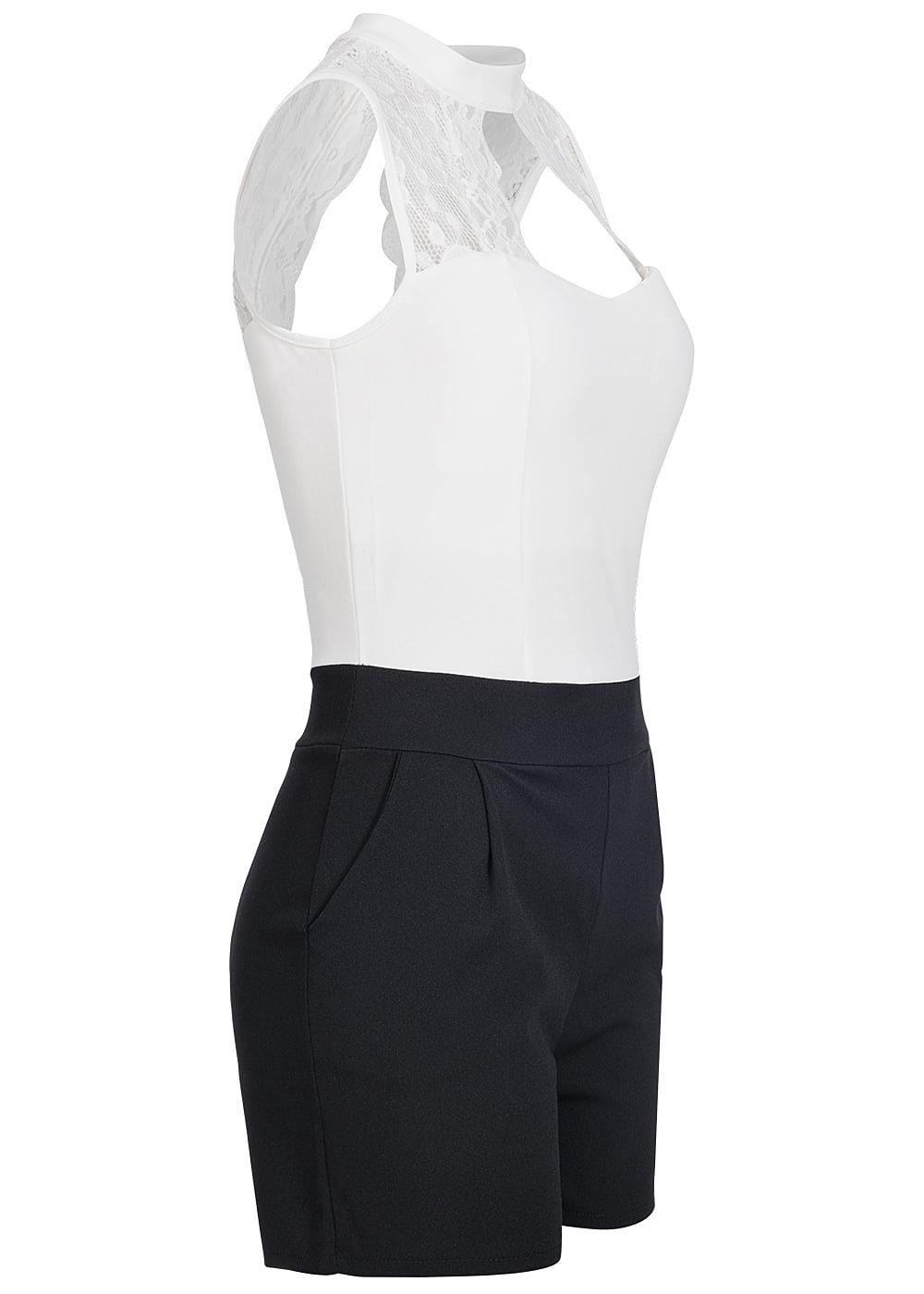 styleboom fashion jumpsuit spitze brustpads weiss schwarz 77onlineshop. Black Bedroom Furniture Sets. Home Design Ideas