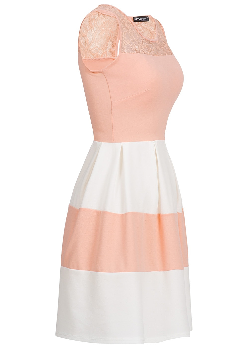 Kleid rosa lila gestreift