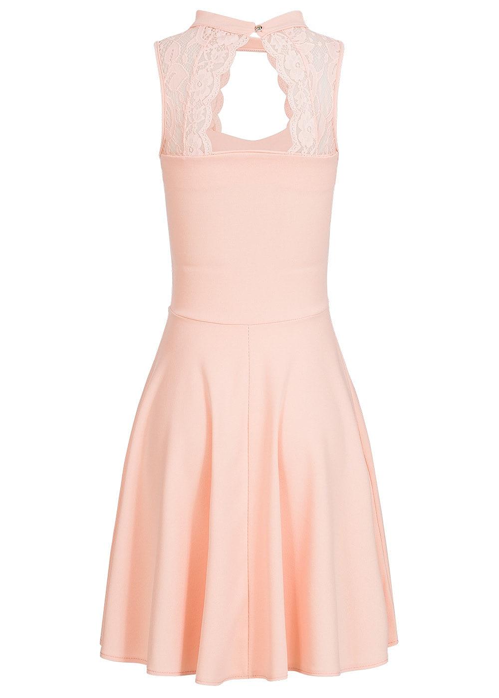 styleboom fashion damen kleid spitze oben brustpads rosa. Black Bedroom Furniture Sets. Home Design Ideas