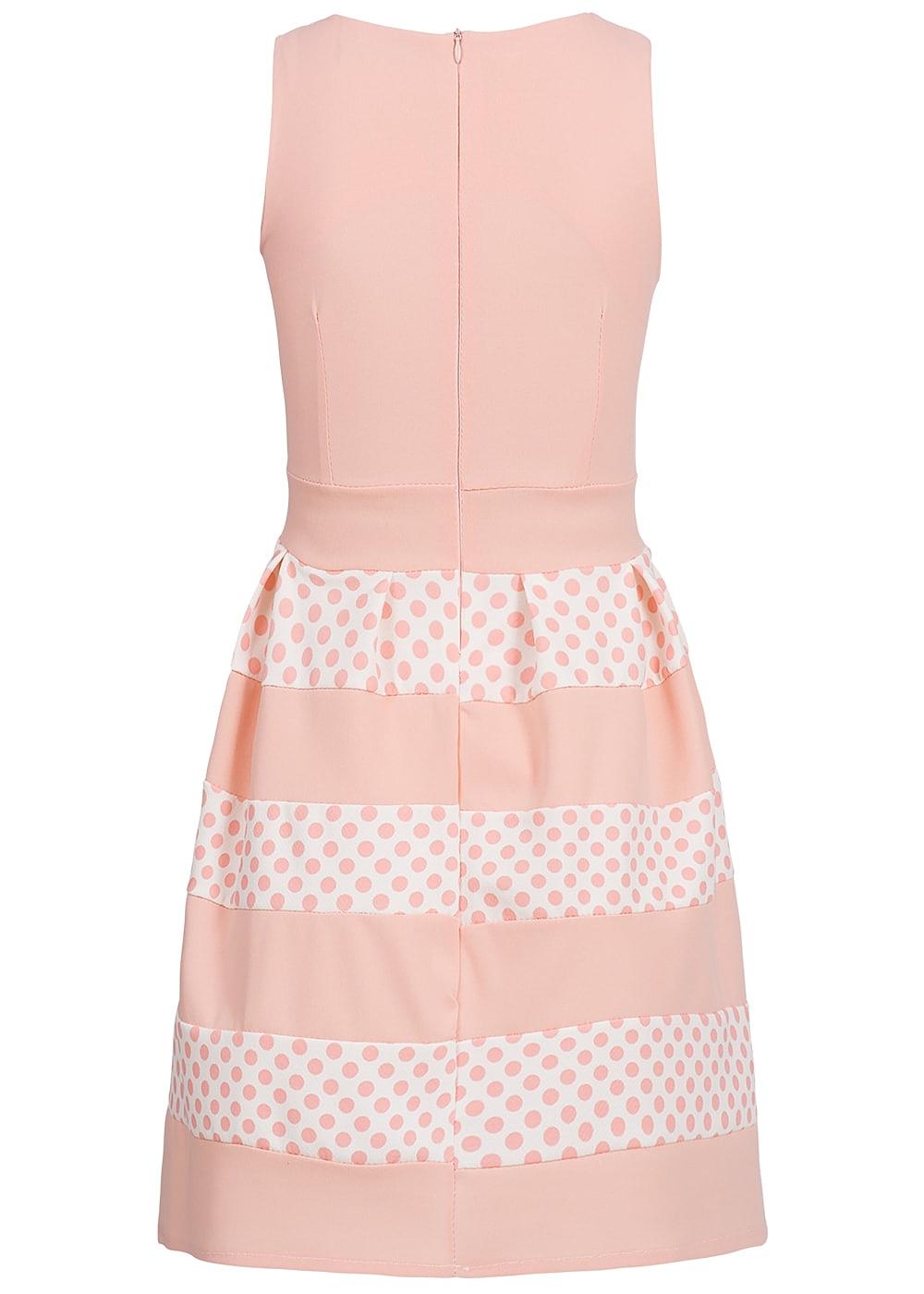 f800ea72ba0 Styleboom Fashion Damen Kleid Punkte Muster rosa weiss - 77onlineshop