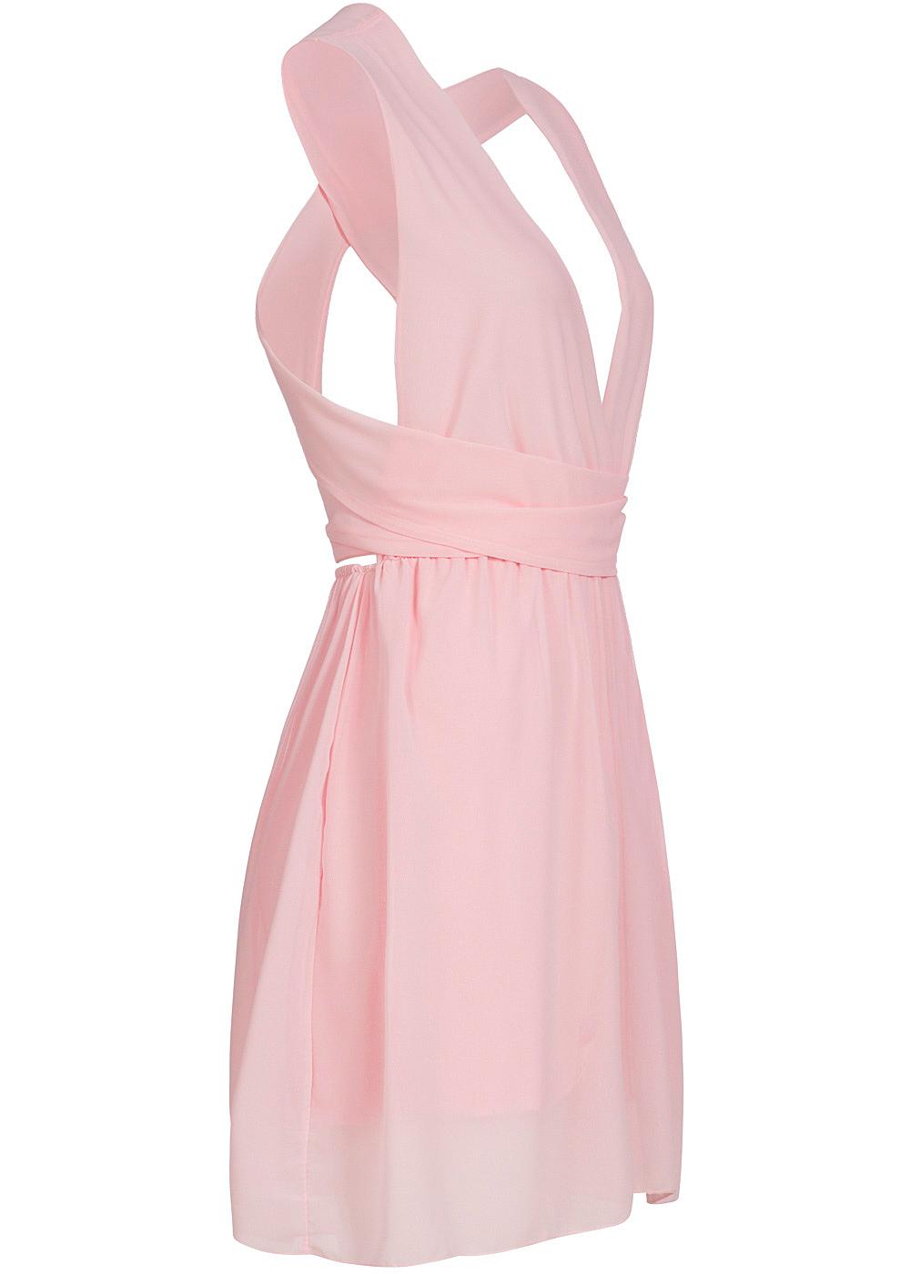styleboom fashion damen hosen kleid neckholder rosa 77onlineshop. Black Bedroom Furniture Sets. Home Design Ideas