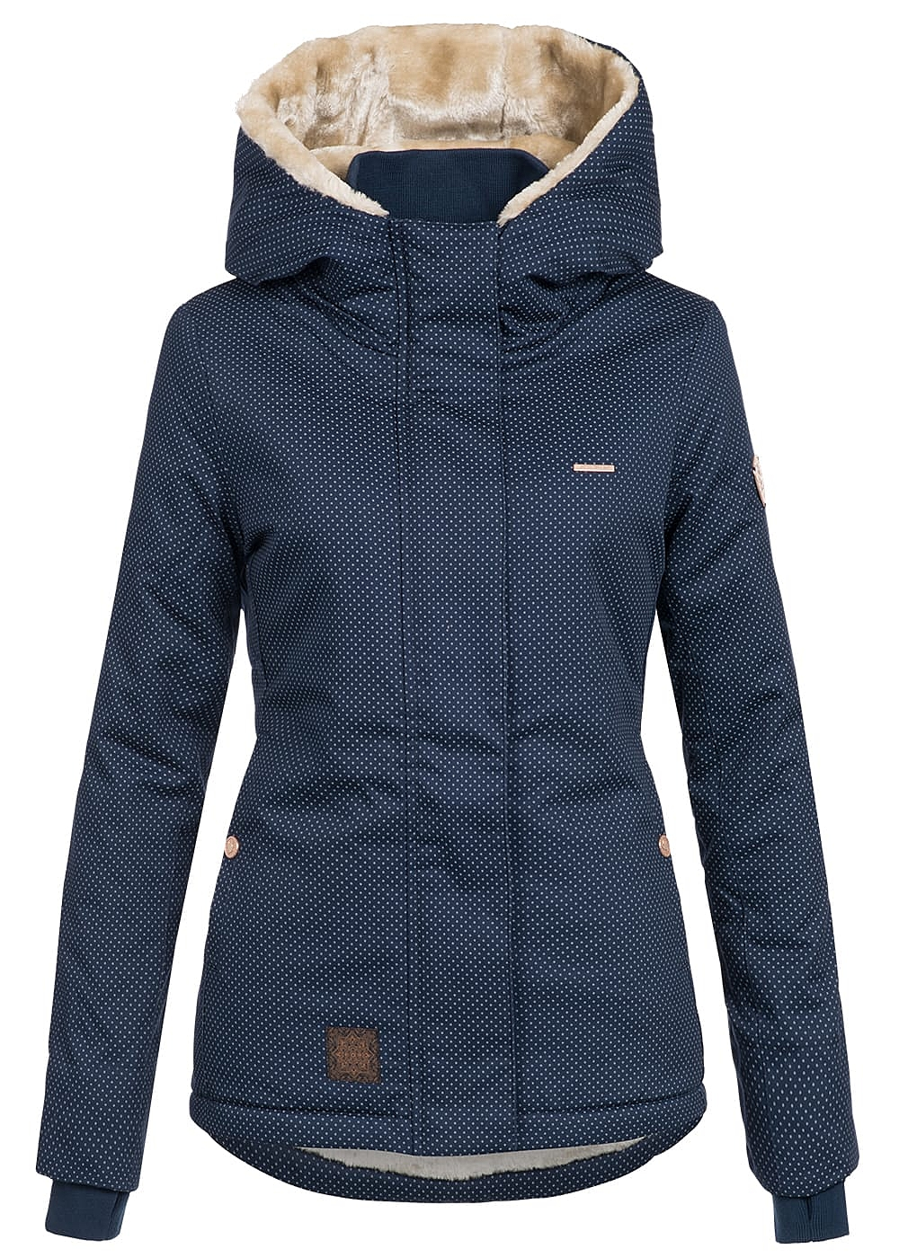 Aiki damen winter jacke navy blau