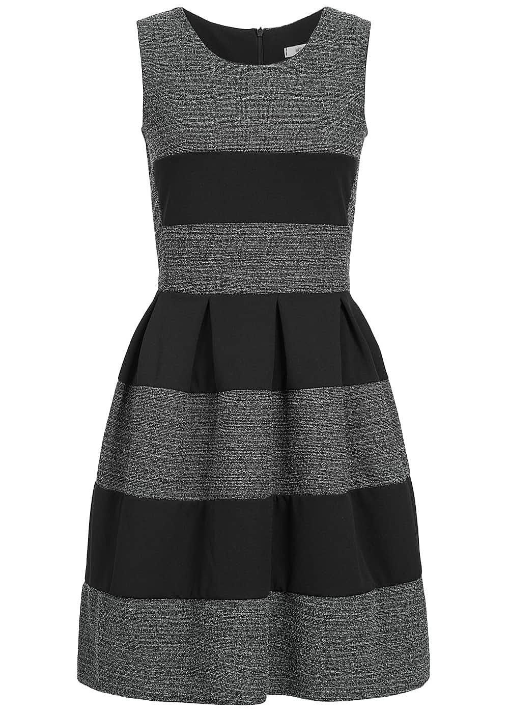 hailys damen mini kleid gestreift dunkel grau schwarz 77onlineshop. Black Bedroom Furniture Sets. Home Design Ideas