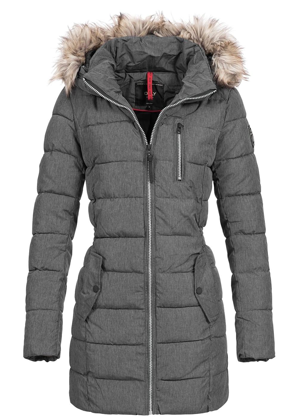 only damen winter mantel kunstfellkapuze 2 deko taschen vorne 1 zip tasche schwarz mel. Black Bedroom Furniture Sets. Home Design Ideas