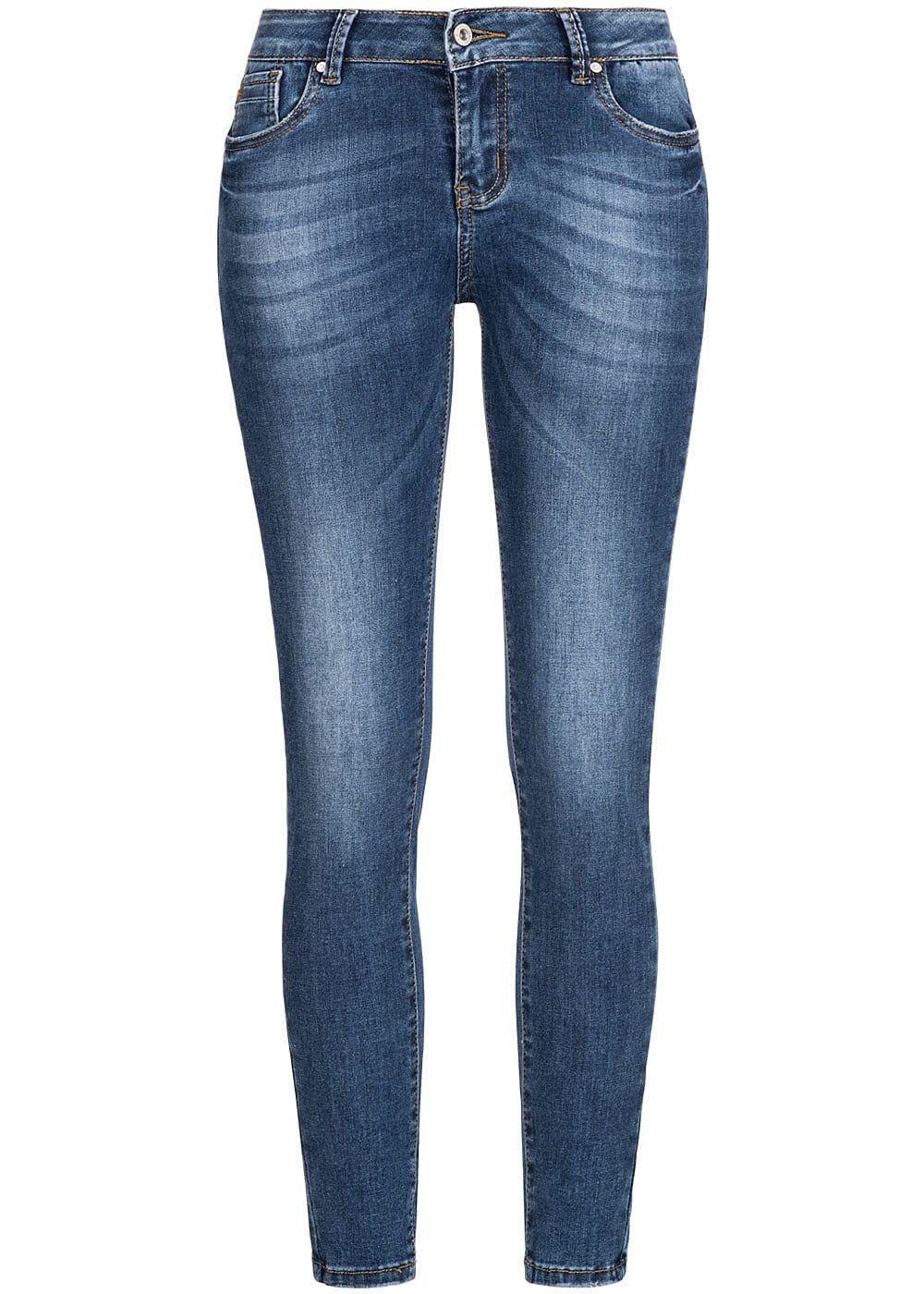 seventyseven lifestyle damen stretch jeans hose 5 pockets blau denim 77onlineshop. Black Bedroom Furniture Sets. Home Design Ideas