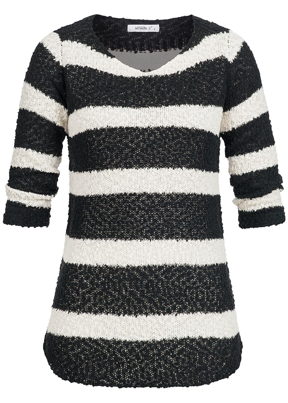 hailys damen pullover sweater grobstrick streifen muster. Black Bedroom Furniture Sets. Home Design Ideas