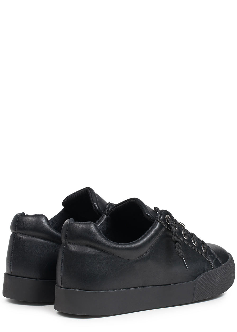 seventyseven lifestyle schuh damen sneaker zum binden deko zipper oben schwarz 77onlineshop. Black Bedroom Furniture Sets. Home Design Ideas