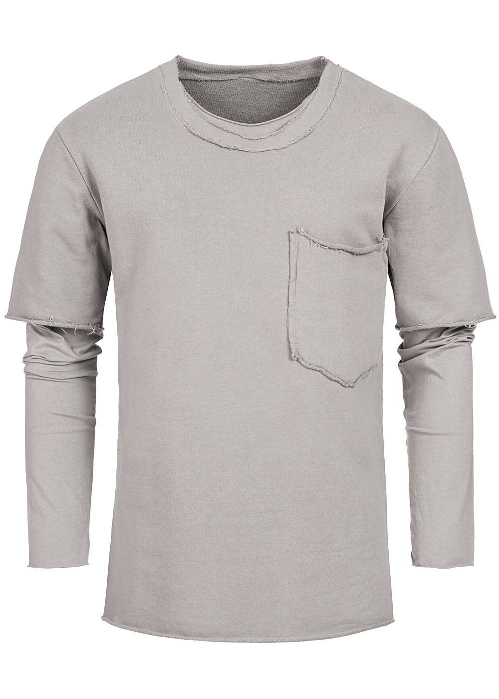 Seventyseven Lifestyle Men 2in1 Chest Pocket Boxer Crewneck beige - Art.-Nr.: 18020659