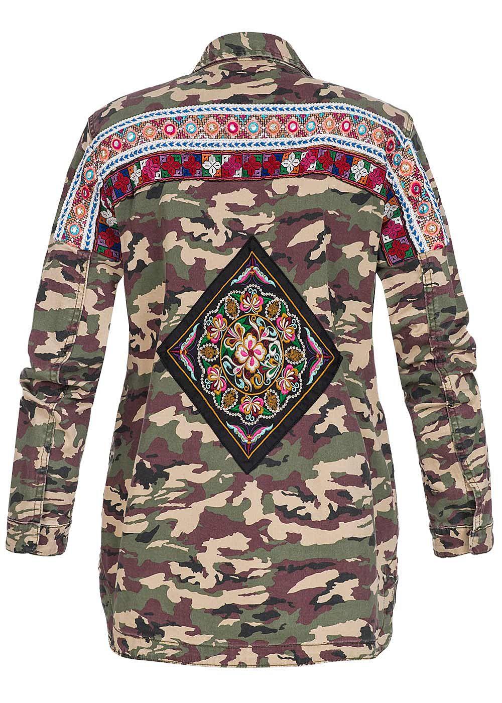 only damen bergangsjacke patches deko steine camouflage design kalamata camouflage 77onlineshop. Black Bedroom Furniture Sets. Home Design Ideas