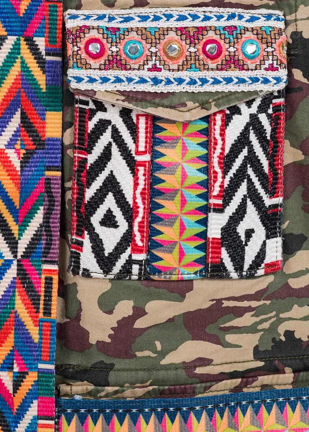 Only damen bergangsjacke patches deko steine camouflage for Design produkte shop