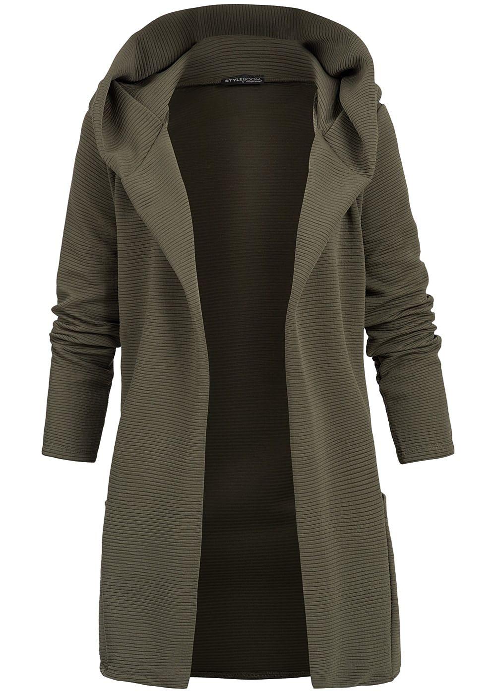 styleboom fashion damen kapuze cardigan aufgesetzte taschen military gr n 77onlineshop. Black Bedroom Furniture Sets. Home Design Ideas