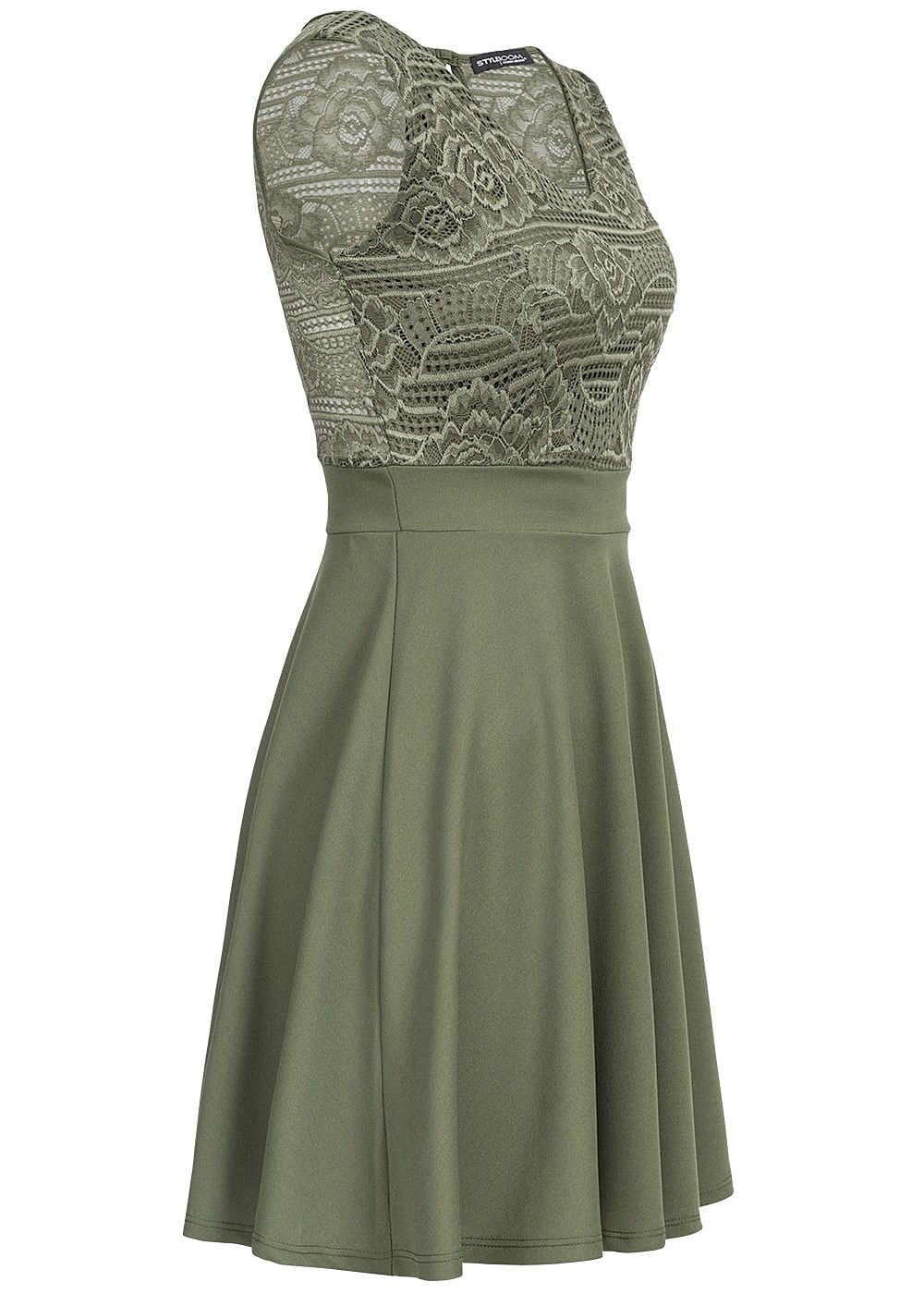 Styleboom Fashion Damen Mini Kleid Spitze oben Brustpads ...